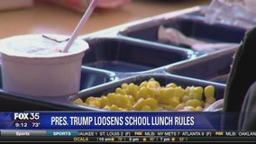 President Trump loosens school lunch rules
