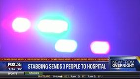 Stabbing sends three people to hospital