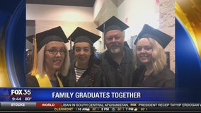Family graduates together