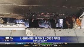Lightning sparks house fires in Brevard County