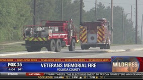 Veterans memorial fire in Volusia County