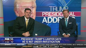 President Trump's lawyer says he is not under investigation