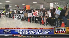 Florida joins new push to reinstate President Trump's travel ban