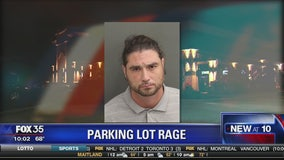 Man arrested in parking lot rage case