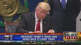 President Trump's travel ban heads back to court today