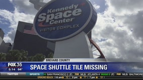 Space shuttle tile missing Kennedy Space Center