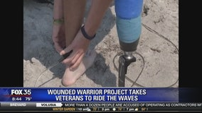 Wounded Warrior project takes veterans to ride the waves