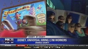 Disney, Universal hiring 2,700 workers