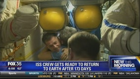 ISS crew gets ready to return to earth after 173 days