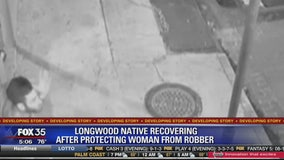 Longwood native recovering after protecting woman from robber