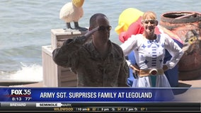 Army Sgt. surprises family at Legoland
