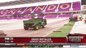 Grass installation begins at Orlando City soccer stadium