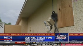Lightning strikes Brevard Co. home