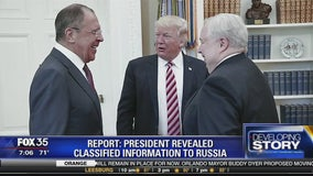 Report: President revealed classified information to Russia