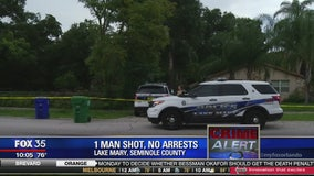 1 man shot, no arrests in Lake Mary
