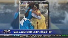 Make A Wish grants girl Disney trip