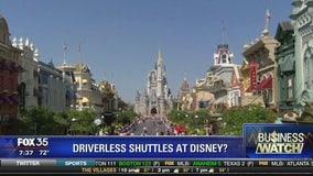 Driverless shuttles at Disney