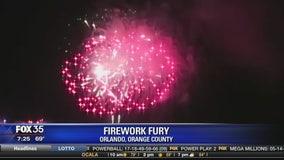 Firework fury over Disney's late night fireworks