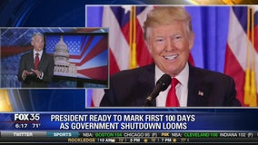 President ready to mark first 100 days as government shutdown looms