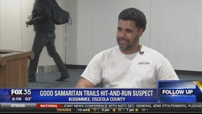 Good samaritan trails hit-and-run suspect