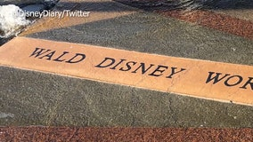 Celebration fixing 'Wald' Disney World sign in downtown fountain