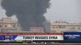 Turkey invades Syria