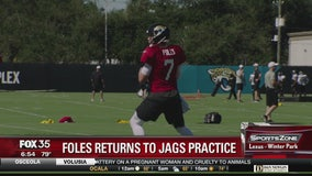 Foles returns to Jags practice