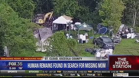 Human remains found in search for missing mom