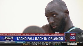 Tacko Fall back in Orlando representing Boston Celtics