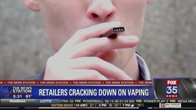 Some retailers ban vaping products