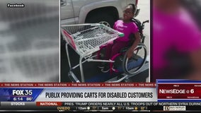 Publix providing new shopping carts for disabled