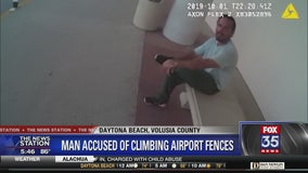 Man shuts down Daytona Beach airport after scaling fences