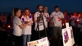 Candlelight vigil held in memory of Nicole Montalvo