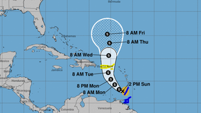 Tropical Storm Karen forms, expected to approach Puerto Rico and the Virgin Islands