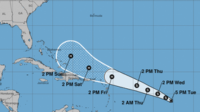 Tropical depression forms, expected to become a hurricane later this week