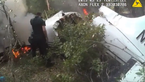 Body cam shows crashed plane that left 3 dead in DeLand