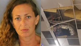 Florida woman leads police on hours-long chase through ceiling after allegedly trying to shoplift