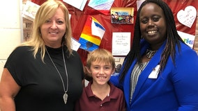 Florida teacher's assistant saves life of fifth-grader choking on piece of cheese