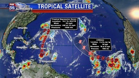 Tropical systems menace Puerto Rico and Bermuda