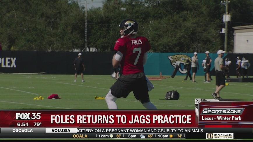 Foles returns to Jags practice