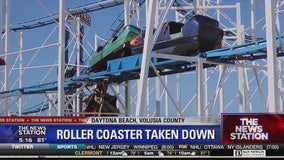 Sand Blaster Roller Coaster removed from Daytona Beach