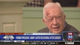 Former President Jimmy Carter recovering after surgery