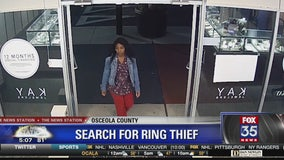 Search for suspected ring thief