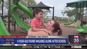 Child found walking alone along busy road after school