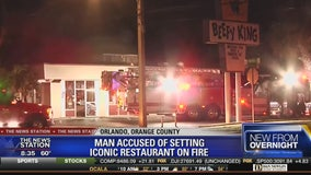 Man accused of setting Orlando's Beefy King on fire
