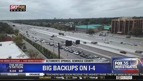 Reconfigured Maitland exit prompts Interstate 4 traffic jam