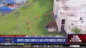 Condo complex is safe after sinkhole opens
