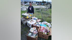 10-year-old California girl celebrates birthday giving food to homeless