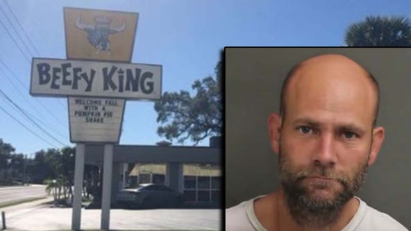 Man arrested for setting fire at iconic Beefy King, police say