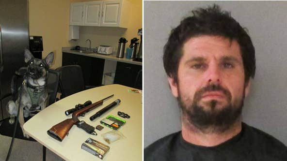 Deputies: Florida K-9's first arrest nabs convicted sex offender with weapons, drugs